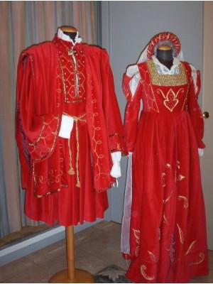 Abito donna medioevo rosso 5004 D